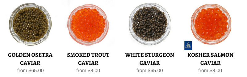 All Sustainable caviar in stock