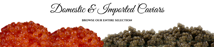 Domestic and imported caviar
