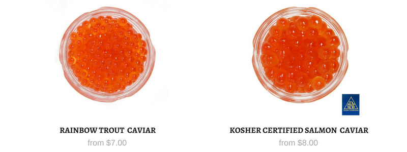 All Red Caviar in Stock - Salmon Roe and Trout Roe